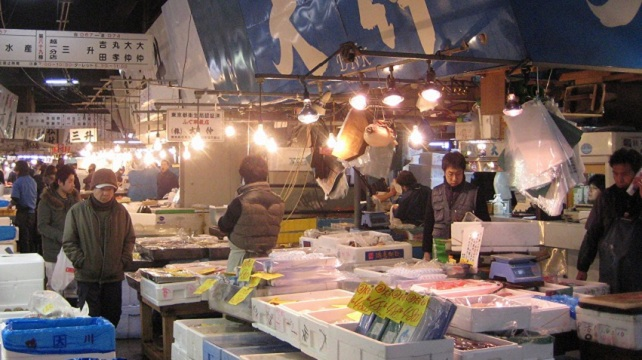 Activeness of Tsukiji Fish Market