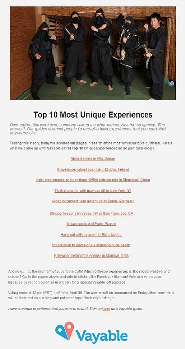 Vayable_Top_10_Most_Unique_Experiences