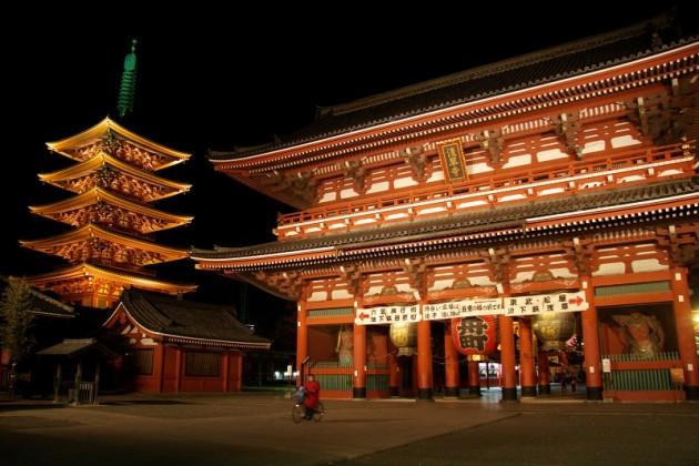 Sensoji 5 story pagoda Asakusa