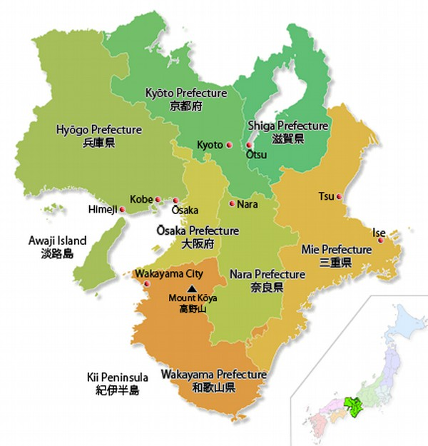 Direct Translations Of Japanese Prefectures And Local Areas Names - Japan map aichi